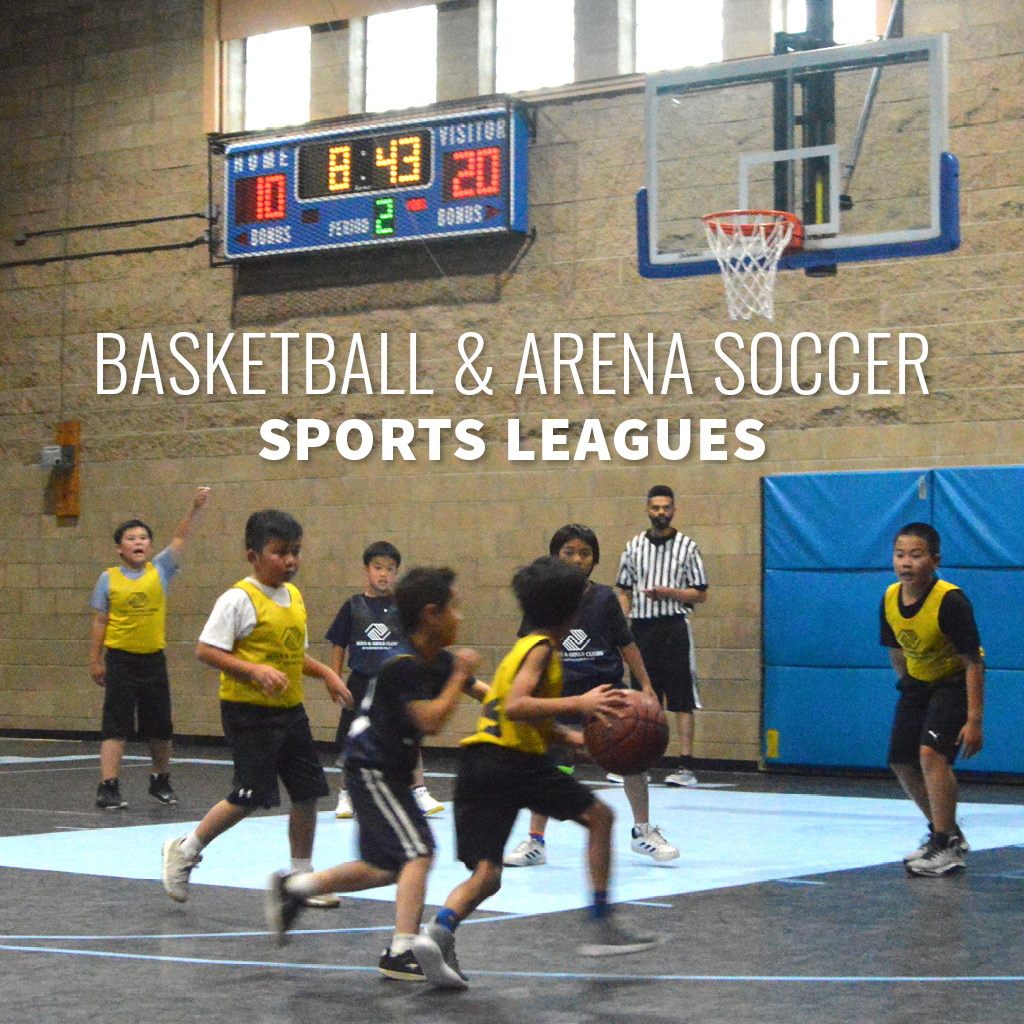 Register online for basketball and arena soccer leagues at the Boys & Girls Club